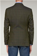 Green Linen Check Waistcoat
