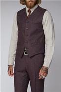 Berry Speckle Three Piece Tweed Suit