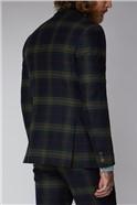 Green Black and Red Tartan Waistcoat
