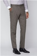 Taupe Plain Trousers