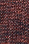 Orange Navy Melange Knitted Tie