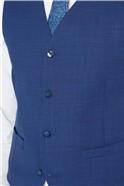 Cobalt Blue Textured Waistcoat