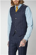 Navy and Grey Windowpane Check Suit
