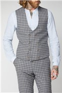Grey, Navy and Brown Check Suit