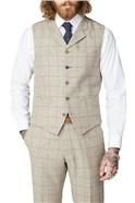 Stone Windowpane Check Suit