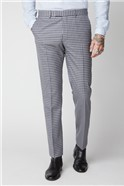 Blue & Navy Checked Trousers