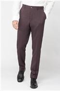 Burgundy Mouline Plain Trousers