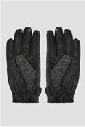 Grey Harris Tweed Gloves