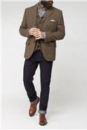 Brown Shetland Check Waistcoat