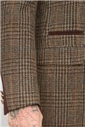 Brown Shetland Check Overcoat