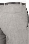Silver Grey Slim Fit Suit Trouser