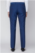 Royal Blue Tailored Fit Suit Trouser