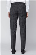 Grey Mini Check Tailored Fit Suit