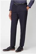 Navy Herringbone Classic Fit Suit