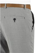 Grey Puppytooth Slim Fit Suit Trouser
