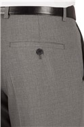 Grey Tonal Check Slim Fit Suit Trouser