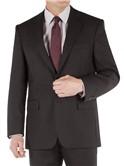 Black Twill Regular Fit Suit