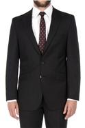 Black Herringbone Regular Fit Suit