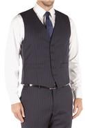 Navy Bold Stripe Regular Fit Waistcoat