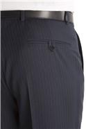 Navy/Blue Stripe Regular Fit Suit