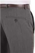 Charcoal Herringbone Tailored Fit Performance Suit Trousers