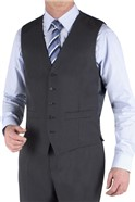 Charcoal Twill Suit Waistcoat