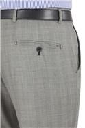 Grey Check Suit Trouser
