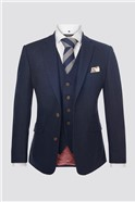 Navy Donegal Contemporary Suit