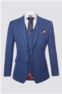 Blue Textured Waistcoat