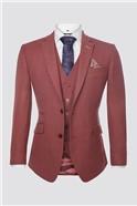 Berry Textured Waistcoat