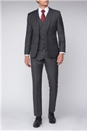 Charcoal Sharkskin Contemporary Fit Suit