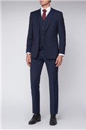 Contemporary Navy Prince of Wales Check Suit