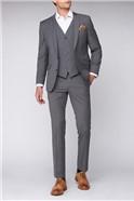 Contemporary Light Grey Tan Check Suit