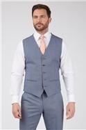 Light Blue Plain Sharkskin Classic Suit