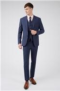 Blue Panama Regular Suit Trousers