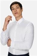 White Texture Slim Fit Shirt