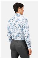 Watercolour Print Slim Fit Shirt