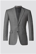 Grey Pick and Pick Suit Jacket