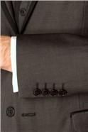Charcoal Semi Plain Slim Fit Suit Jacket
