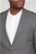 Grey Check Slim Fit Suit Jacket