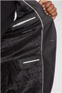 Charcoal Pindot Slim Fit Suit Jacket