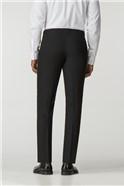 Black Plain Tailored Fit Machine Washable Dresswear Trouser