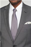 Charcoal Pindot Tailored Suit Jacket