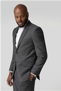 Charcoal Pick And Pick Tailored Fit Suit Trouser