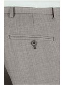 Light Grey Pick And Pick Tailored Fit Suit Trousers