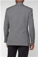 Grey Semi Plain Tailored Fit Suit Jacket
