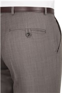 Taupe Pick and Pick Regular Fit Suit Trouser
