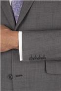 Grey Check Regular Fit Jacket
