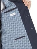 Blue Tonal Check Slim Fit Suit