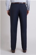 Studio STVDIO BY JEFF BANKS BLUE PUPPYTOOTH TAILORED FIT SUIT TROUSER
